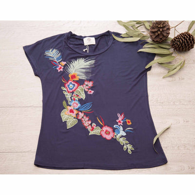 Embroidered T-Shirt Tops Isabella Boho