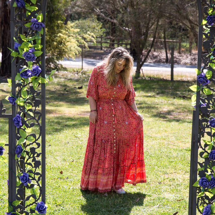 Coral Island Harper Gown Dress Bohemian Inspire