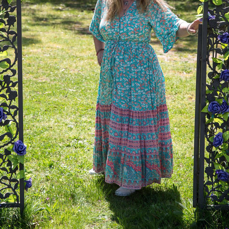 Winter Peacock Harper Gown Dress Bohemian Inspire