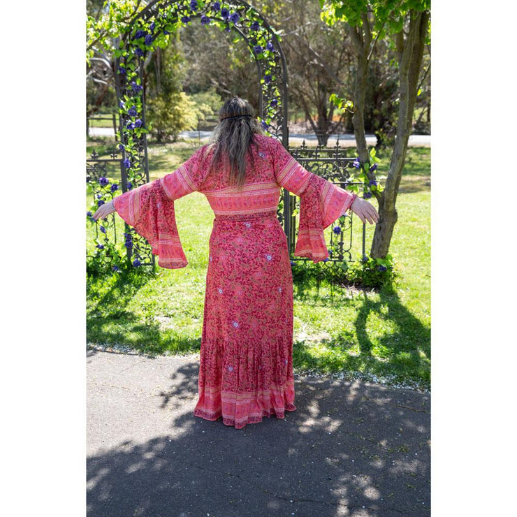 Coral Island Madison Wrap Maxi Dress Bohemian Inspire