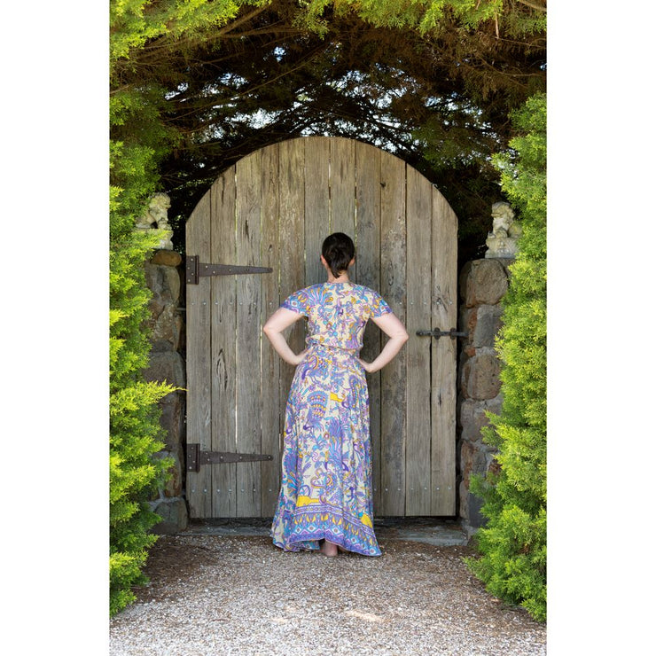 Peacock Flutter Sleeve Maxi Dress Dress Bohemian Inspire
