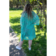 Green Mini Lace Throw Dress Dress Bohemian Inspire