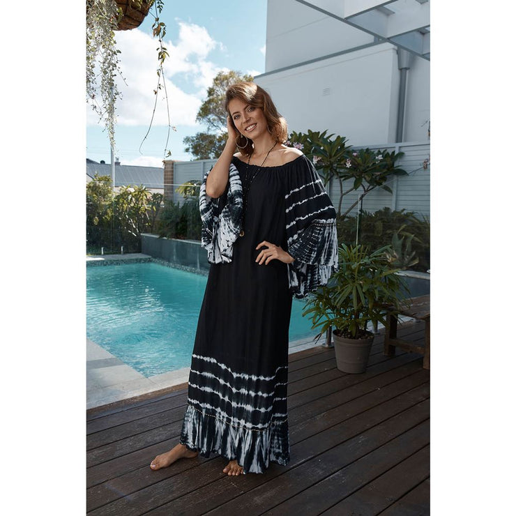 Ibiza Sandra Maxi Dress Island Jade Black