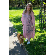 Pink Midi Lace Throw Dress Dress Bohemian Inspire