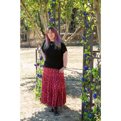 Raven Red Maxi Skirt or Strapless Dress Dress Pink Diamond
