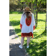 Short Dreamcatcher Kimonos Kimono Bohemian Inspire White and Red