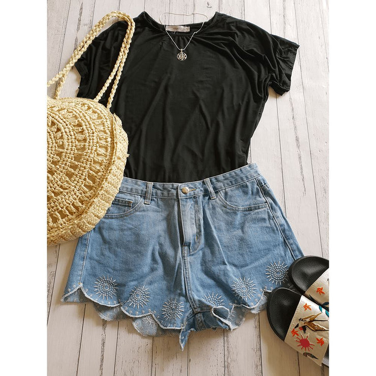 Short Shorts Denim Shorts Pants Bohemian Inspire