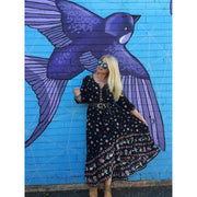Take a Chance Maxi Dress Dress Hippy Heart Co M Black Magic