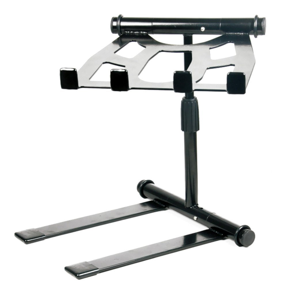 Pyle PLPTS55 - Portable, Folding Tabletop DJ Gear Stand for Laptop Mixer or...