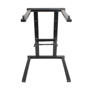 Pyle PLPTS35 - Portable Folding Tabletop DJ Gear Stand for Laptops, Mixers,...