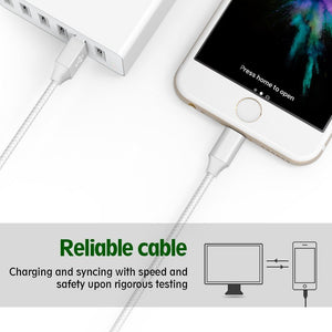 Lightning Cable,ONSON iPhone Cable 4Packs 3FT 6FT 10FT to USB Syncing and...