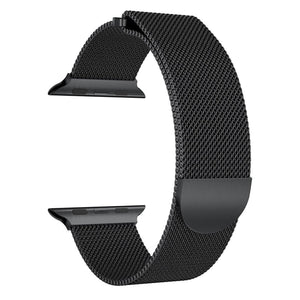 Alonea Milanese Stainless Steel Magnetic Watch Band For Apple Series 3 38MM/42MM