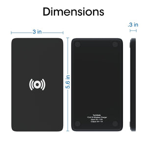 iPhone X, 8, 8 Plus Wireless Charger, TechMatte Qi Charging Pad for Samsung...