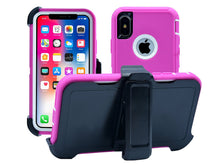 iPhone X | Holster Case Full Body Military Grade Edge-to-Edge Protection...