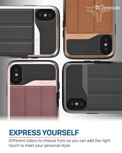 iPhone X Wallet Case, Vena [vCommute][Military Grade Drop Protection] Flip...