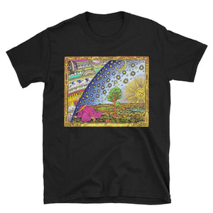 Flammarion - Psychedelic Short-Sleeve Unisex T-Shirt