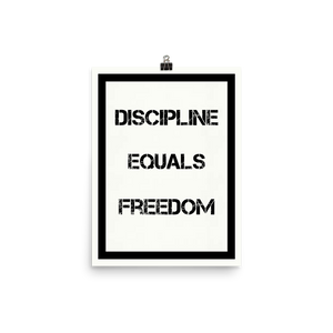 Discipline Equals Freedom Inspirational Wall Art