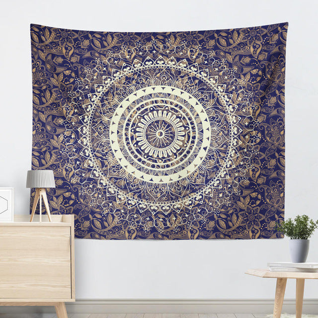 Indian Mandala Floral Tapestry, Bedspread, Carpet