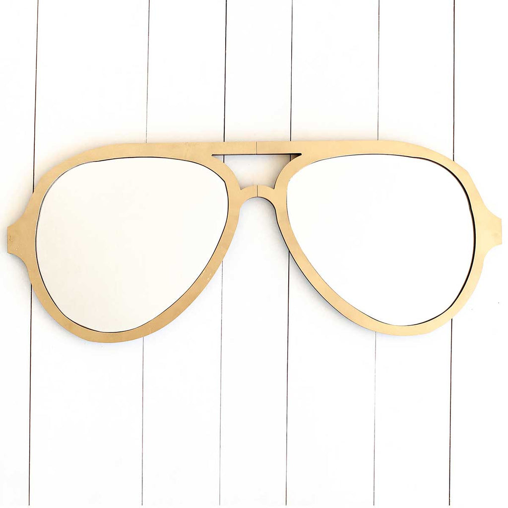 Aviator Glasses Wall Decor in Gold
