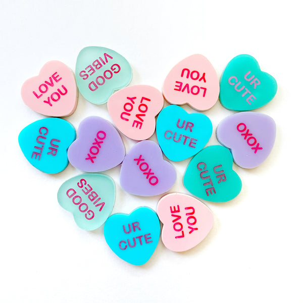 Set of Conversation Heart Earrings