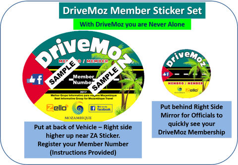 DriveMoz Member's Sticker Set (SA Only)
