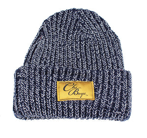 We Are One Star Beanie (Navy Swirl Knit)