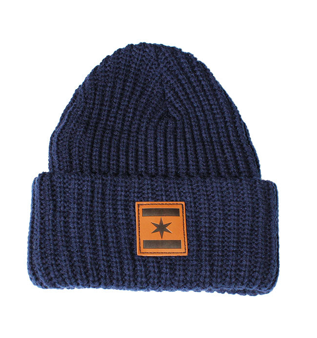 We Are One Star Beanie (Navy Knit)