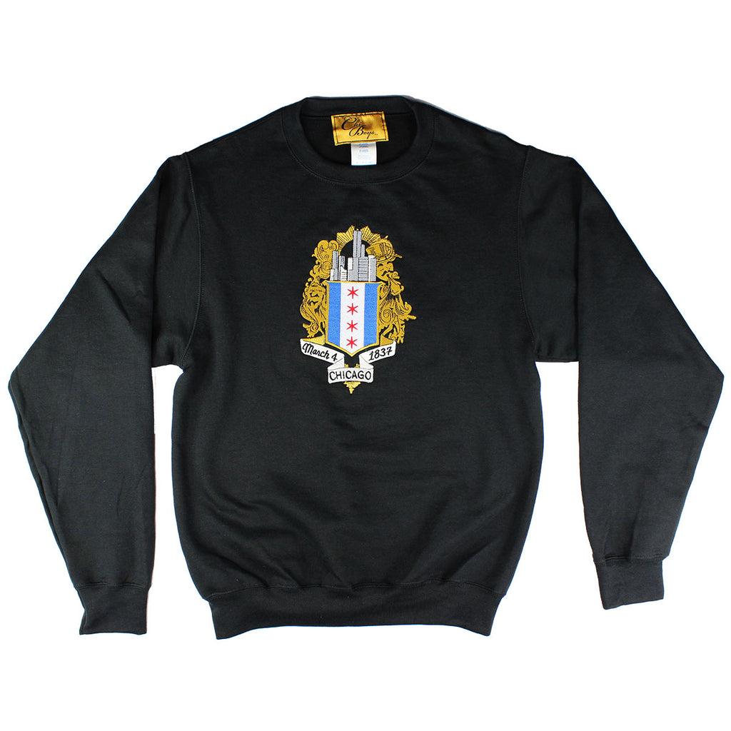 ChiBoys Embroidered Shield Crew (Black)