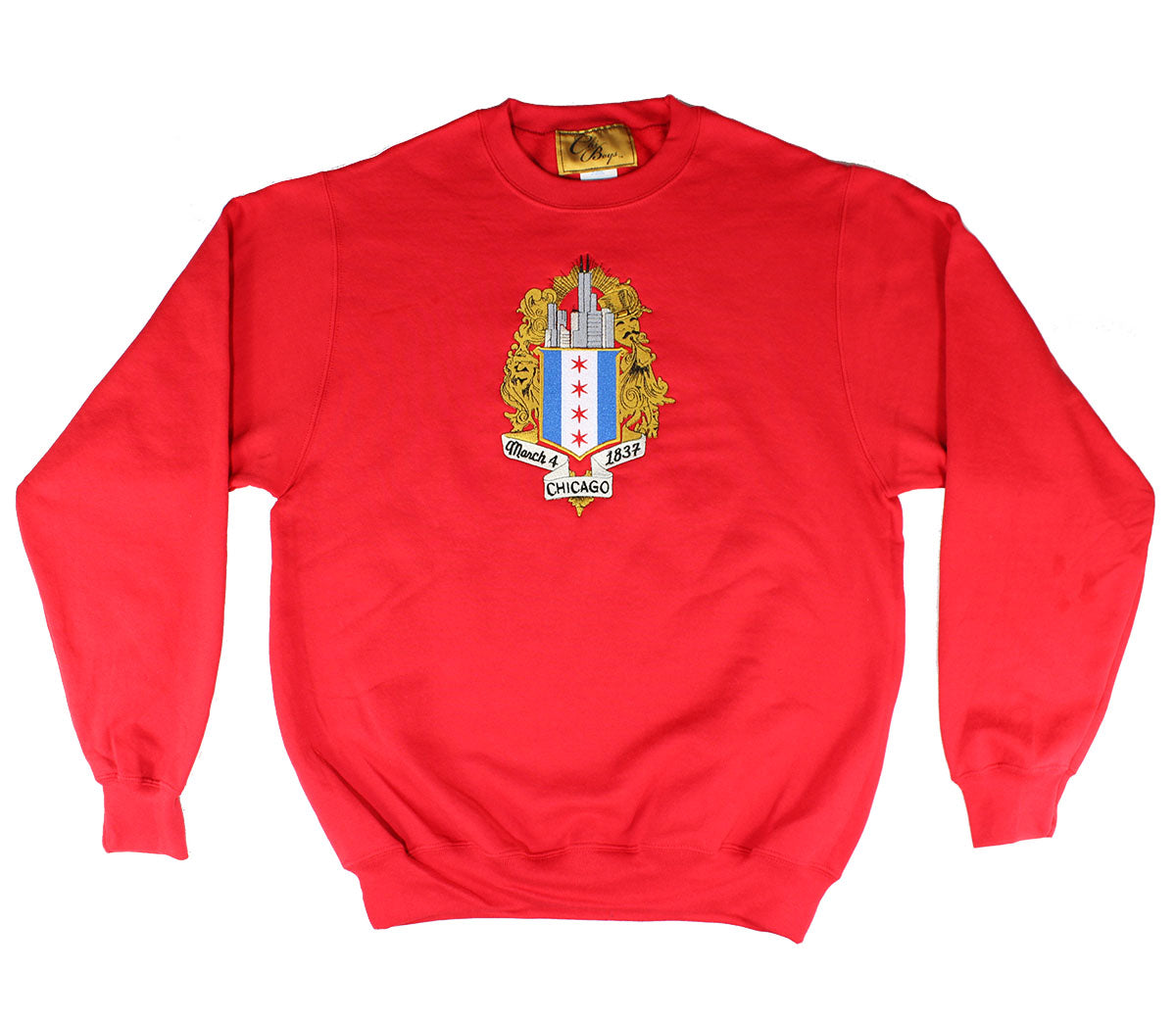ChiBoys Embroidered Shield Crew (Red)