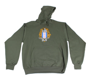 ChiBoys Embroidered Shield Hoodie (Army)