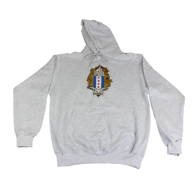 ChiBoys Embroidered Shield Hoodie (Salt n Pepper)