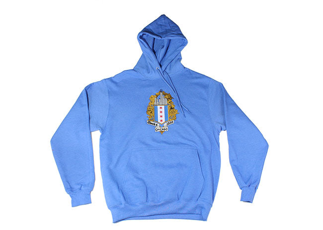 ChiBoys Embroidered Shield Hoodie (Chicago Blue)