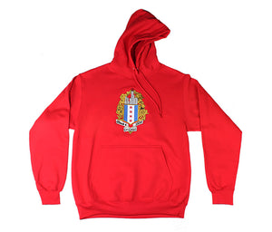 ChiBoys Embroidered Shield Hoodie (Red)