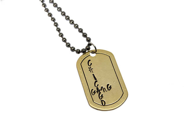 Handmade Dog Tags- Chicago Gang