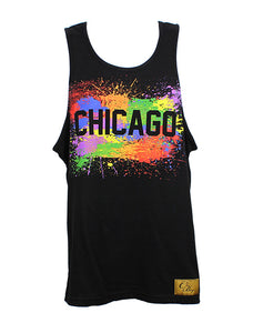 Chicago Splatter Tank Men (Black)