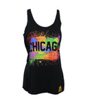 Chicago Splatter Tank Women (Black)