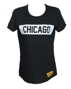 Chicago Tee Women (Black/White)