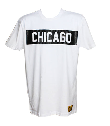 Chicago Tee (White/Black)