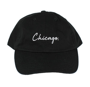 Classy Chicago. Period Dad Hat (Black)
