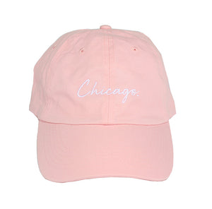 Classy Chicago. Period Dad Hat (Pink Lemonade)
