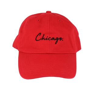 Classy Chicago. Period Dad Hat (Red)