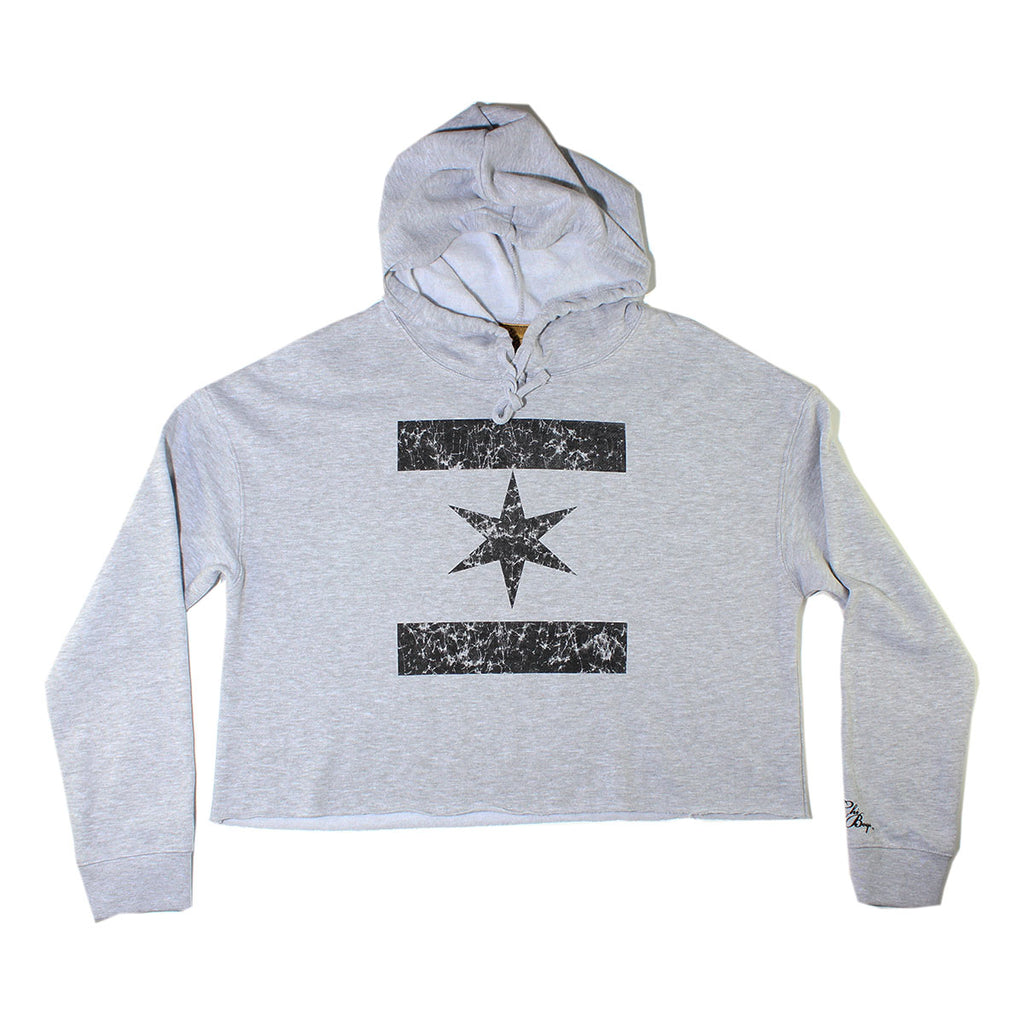 We Are One Star Crop Top (Grey)