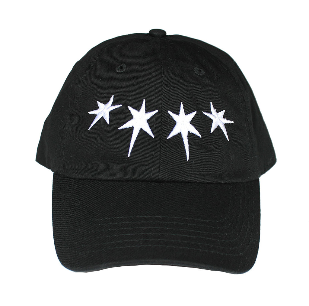 Dripping Stars Dad Hat (Black)