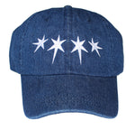 Dripping Stars Dad Hat (Dark Denim)
