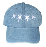 Dripping Stars Dad Hat (Light Denim)