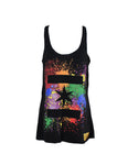 We Are One Star Splatter Tank (Black)