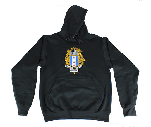 ChiBoys Embroidered Shield Hoodie (Black)