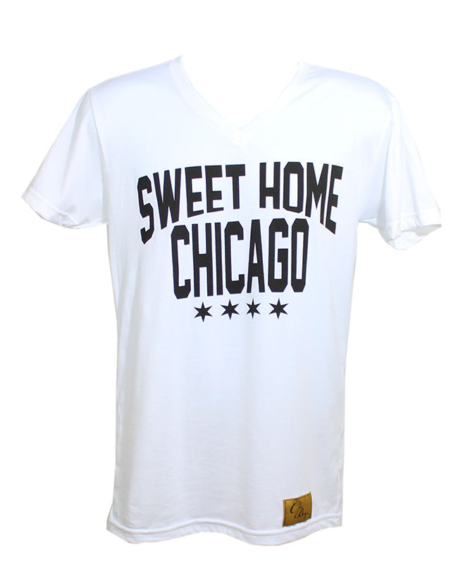 Sweet Home Chicago V-Neck (White)