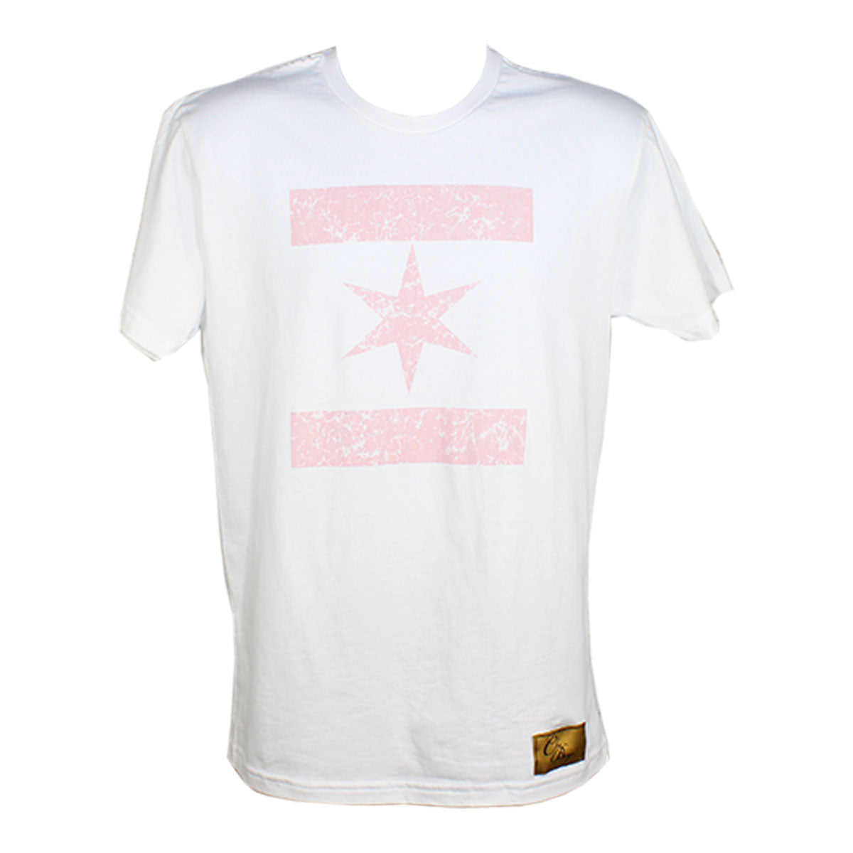 We Are One Star Tee Distressed (White/Grapefruit)