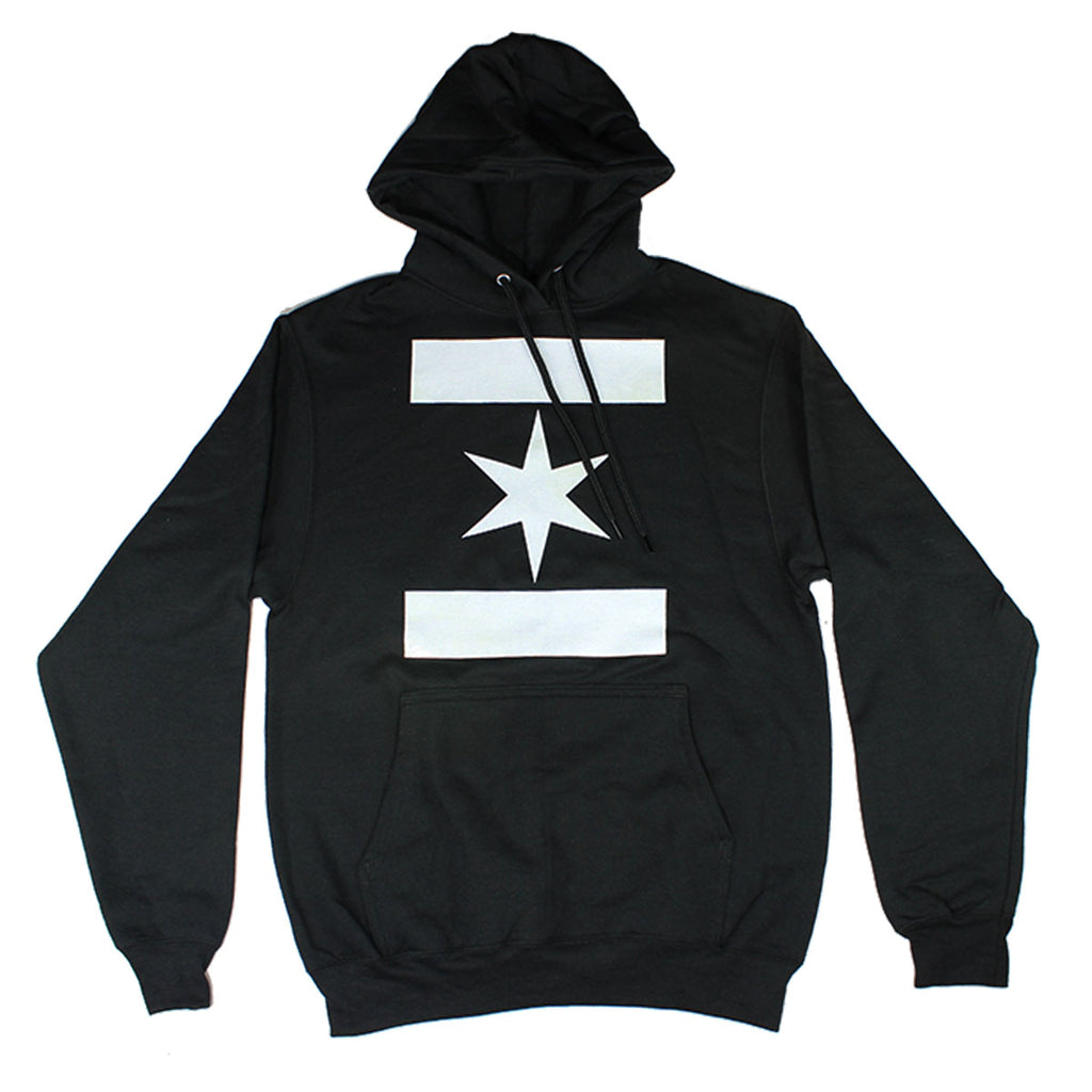 We Are One Star Hoodie (Black/White)